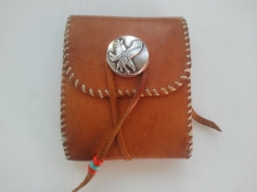 Deerskin Billfold with Sterling Silver Eagle Concho