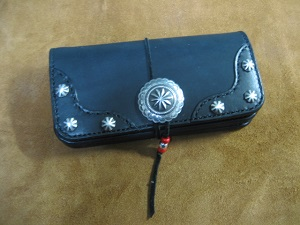 Long Wallet with Southwest Concho and decorative corners
