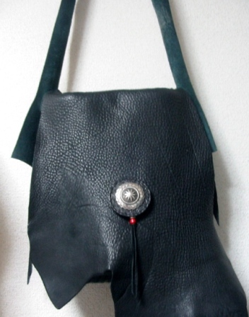 Black Garment Possibles Bag