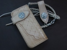 Wild West Biker Wallet Set with Lonestar Berry Conchos